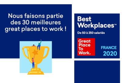 Quaternaire rejoint le Palmarès Best Work Place 2020