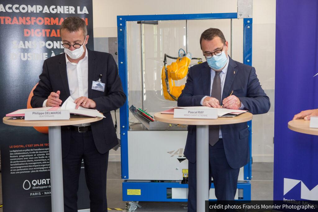Signature du partenariat Quaternaire EMSE